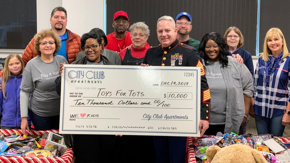 City Club Apartments provides big support for Toys for Tots
